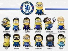 Minions as Chelsea soccer players! Chelsea Soccer, Fc Chelsea, Football Soccer, Football Players, Football Things, Soccer Teams, Soccer Party, Sports Teams, Chelsea Fc Wallpaper