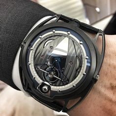 Customized @de_bethune They just transformed the watch into a mini machine…