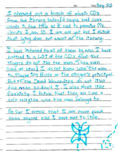 5th grade girl discovers Dead Kennedys CD at school library; writes diary entry about it | Dangerous Minds