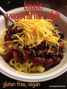 Vegetarian/Vegan Chili- gluten free. SO SIMPLE.