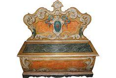 Italian Painted Bench on OneKingsLane.com