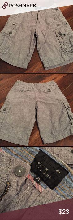 QuikSilver Shorts QuikSilver Shorts size 33 gray cargo style Quiksilver Shorts Cargo