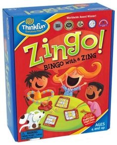 Bingo with a Zing! This creative wonder is sure to entertain kids for hours. Players try to fill their Zingo! cards with matching tiles from the Zingo Zinger. Bingo Games, Word Games, Family Games, Games For Kids, Sorry Board Game, Preschool Speech Therapy, Jones Design Company, Parody Videos, Teaching Shapes
