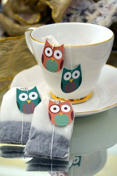 Owl Tea by CreativiTeaTags on Etsy, $25.00
