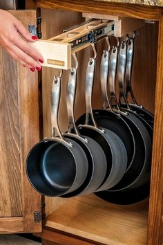Glideware pots and pans rack // Exactly what your need right at your fingertips... #kitchen #organization #gadget