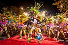 Carnival in the Guadeloupe Islands, which put a French Caribbean spin on the West Indian carnival.