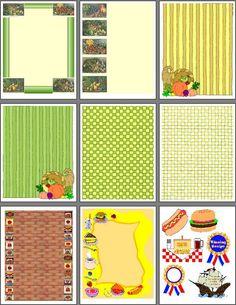 Printable Recipe Scrapbook Designs for Food Scrapbooking Site met allemaal verschillende prints, labels etc.. om te downloaden (printen) en te gebruiken om te scrappen....
