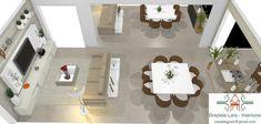 Construindo Minha Casa Clean: Consultoria de Decoração 3D - Salas de Estar e Jantar Integradas com Hall de Entrada!
