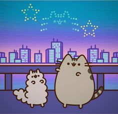 Happy Pusheen and Stormy 4th