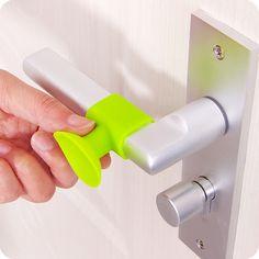 Khaki Flower Shape Floor Door Stopper Multifunctional Thickened Silicone Door Handle Refrigerator Mute Anti-Collision Pad Door Suction Custom Door Stop