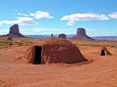 Navajo Indians Shelter   navajo-female-hogan-in-monument-valley-navajo-tribal-park-ruth-hager ...