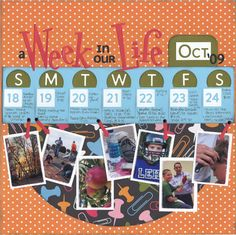 Week in the Life of scrapbook layout