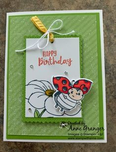Stamp With Anne! - Page 5 of 1110 - Anne Granger, Independent Stampin' Up! Birthday Cards For Women, Funny Birthday Cards, Handmade Birthday Cards, Happy Birthday, Birthday Cake, Kit Bebe, Bee Cards, Stamping Up Cards, Kids Cards