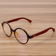 NOSSA Handmade Wood Glasses Men And Women's Vintage Eyeglasses Round Spectacle Myopia Prescription Eyewear Frames  Goggles