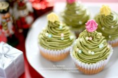 Christmas Tree cupcakes.  You choose the flavor, but add the green icing on top!