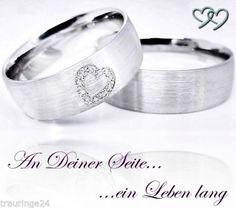 Partnerringe Eheringe Trauringe Verlobungsringe aus 925er Silber