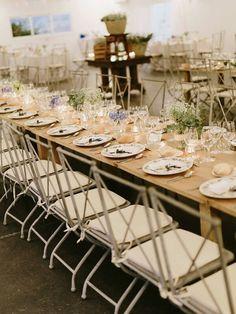 #BodaSomethingBlue Centros de mesa rústicos, Boda Rustic Chic, Decoración de Bodas, Bodas con Estilo, Mesa sin mantel (www.weddingplannermadrid.com)