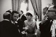 Audrey Hepburn and Jack Lemmon at Jack Lemmon wedding, Leo Fuchs Photography (www.leofuchs.com)