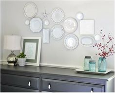 plate wall hanging tip...good way to display my Granny's china instead of keeping it packed away in boxes