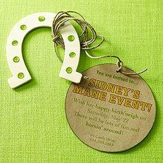 Horse Party Invite