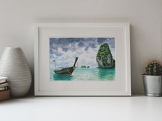 Stormy sea watercolor Tropical beach art DIGITAL DOWNLOAD   Etsy Watercolor Sea, Watercolor Paintings, Turquoise Home Decor, Stormy Sea, Gift Of Time, Beach Art, Printable Wall Art, Original Artwork, Tropical