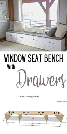 For about $150 (including shipping) from Shelf Help I was able to build the carcass.  This is a GIANT project, but went together surprisingly fast! #anawhite #anawhiteplans #shelfhelp #windowseat #diy