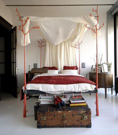 Cool Canopy Beds metal four poster fantasy bed   buildy homey improvey   pinterest