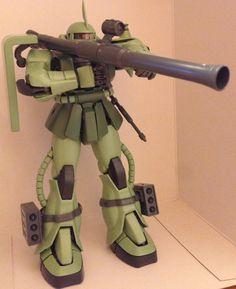 Bandai MS-06J Zaku II MG - finished 3