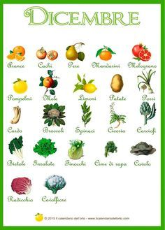 Briciole di Sapori: Dicembre... il calendario della natura Healthy Menu, Healthy Cooking, Healthy Life, Healthy Eating, Healthy Recipes, Fruit And Veg, Fruits And Vegetables, Italian Drinks, Edible Garden