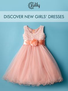 Discover Beautiful Little Girl's Dresses for Spring Up to Off! Formal and casual styles for your little darling! Little Girl Dresses, Girls Dresses, Flower Girl Dresses, Little Girl Fashion, Kids Fashion, Baby Dress, Dress Up, Pink Dress, Moda Kids