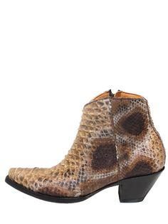 Old Gringo Monica Python Zip Women Boots - Ochre Bl563- 45