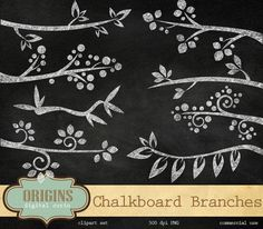 Check out Chalkboard Branches Clipart by Origins Digital Curio on Creative Market