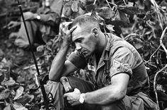 Vietnam War - US Troops 1965 |The strain of battle for Dong Xoai is shown on the…