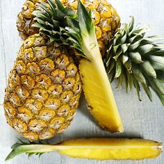 Pineapple    Not only does pineapple add juicy sweetness to your meals but it also contains bromelain, a digestive enzyme that helps break down food to reduce bloating.