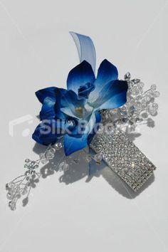 blue orchid hair | Blue Orchid Satin Mini Rose Wedding Wrist Corsage Modern Galaxy Blue ...