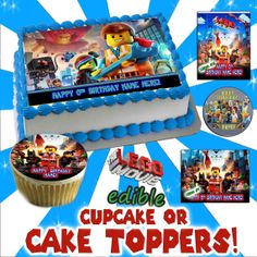 The Lego Movie Personalized Cake or Cupcake tops  - Decal sticker transfer topper game picture image sugar edible photo sheet round