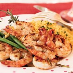 Shrimp scampi is an easy way to enjoy Italian cuisine at home.  Threading olive oil-marinated shrimp on rosemary-branch skewers imparts a subtle herb flavor to the dish and a fantastic scent to your table.