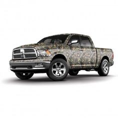 Full Mossy Oak Camo Truck might be a Dodge, but camo makes it look good