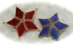 3D Peyote Star Ornament Tutorial JDC037 door JoyHarmonDesigns