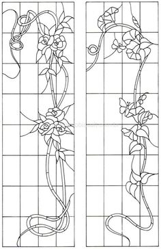 Flowery vine panel - I know this is stained glass but I am sure it can be adapted to a quilt