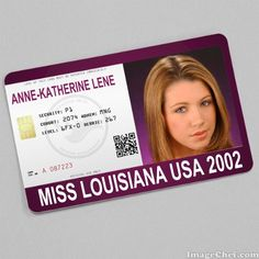 Anne-Katherine Lene Miss Louisiana USA 2002 card