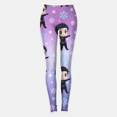 Yuri!! On Ice Chibi Yuri Pattern Leggings