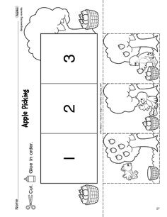 Apple Picking, Lesson Plans - The Mailbox Sequencing Worksheets, Language Arts Worksheets, Language Activities, Kindergarten Lesson Plans, Preschool Lessons, Preschool Activities, Free Preschool, Preschool Classroom, Classroom Ideas