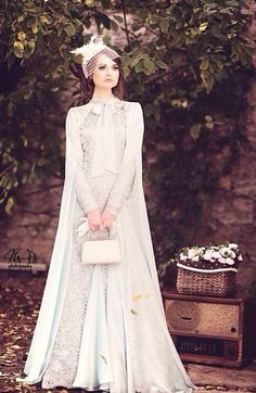 Add simple hijab for it, and be gorgeus bride