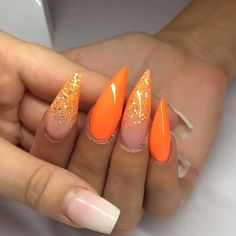 Your Professional Pin Stiletto Nails, Glitter Nails, Coffin Nails, Gel Nails, Best Acrylic Nails, Acrylic Nail Designs, Orange Nails, White Nails, French Nails