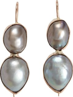 Love this: Grey Pearl Shell Earrings @Lyst