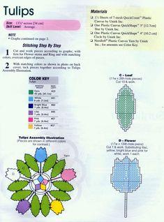Пластмассовая канва салфеточки цветы