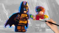 The LEGO Batman Movie And Robin Coloring Book Pages Video For Kids