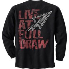 Men's Live at Full Draw Long Sleeve T-Shirt at Legendary Whitetails- For Josh