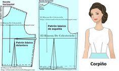 El Rincon De Celestecielo: Patrón básico delantero de blusa con pinza de costado o lateral (Método actualizado)